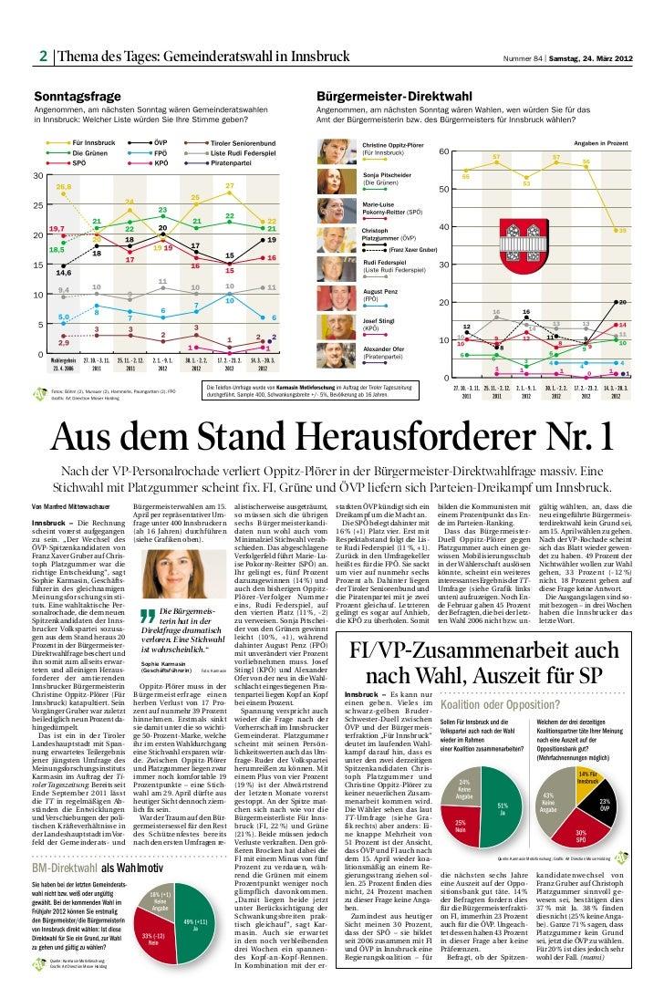 2 Thema des Tages: Gemeinderatswahl in Innsbruck                                                                          ...