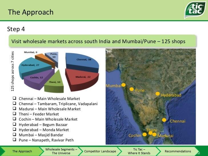 The Approach Step 4 <ul><li>Chennai – Main Wholesale Market </li></ul><ul><li>Chennai – Tambaram, Triplicane, Vadapalani <...