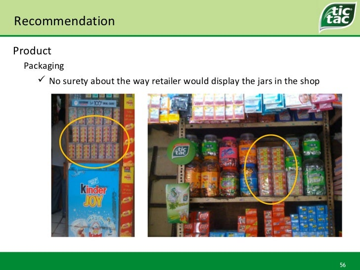 Recommendation Packaging Product <ul><ul><li>No surety about the way retailer would display the jars in the shop </li></ul...
