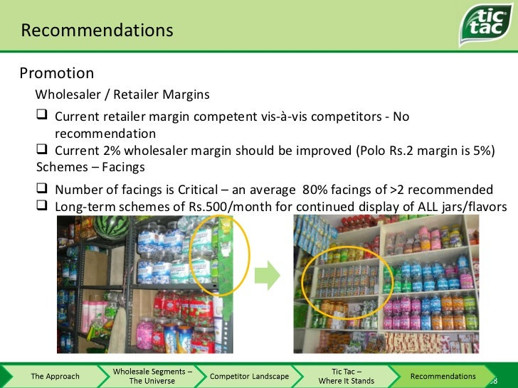 Recommendations Promotion <ul><li>Current retailer margin competent vis-à-vis competitors - No recommendation </li></ul><u...