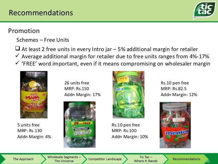 Recommendations Promotion Schemes – Free Units <ul><li>At least 2 free units in every Intro jar – 5% additional margin for...