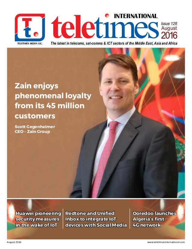 TELETIMES MEDIA LLC. INTERNATIONAL teletimesThe latest in telecoms, sat-comms & ICT sectors of the Middle East, Asia and A...