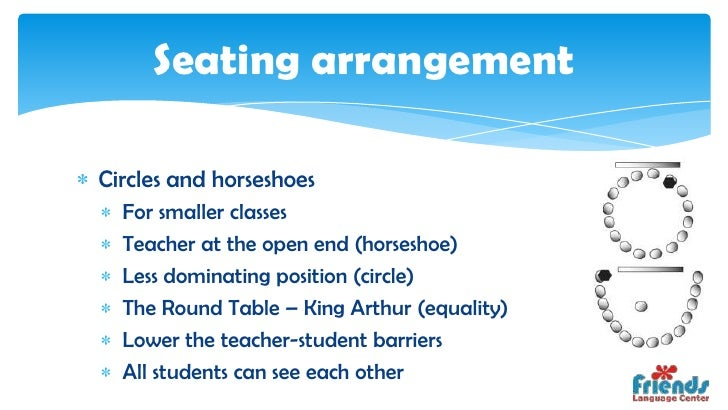 horseshoe seating arrangement