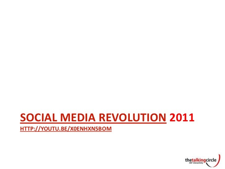 SOCIAL MEDIA REVOLUTION 2011HTTP://YOUTU.BE/X0ENHXN5BOM