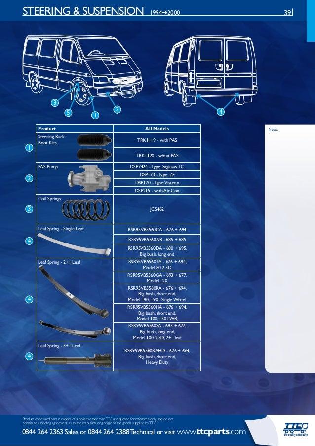 1 SPRINGS ONLY FORD TRANSIT LEAF SPRING U BOLT MK5 /& MK6 85-2006 STANDARD 2