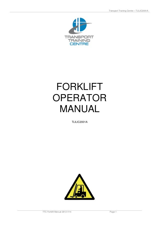 Ttc forklift manual_2012_v14