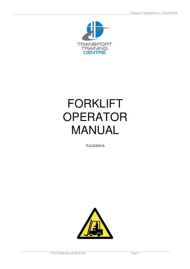 Ttc forklift manual_2012_v14