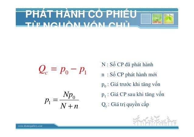 www.themegallery.com PHÁT HÀNH C PHI U T NGU N V N CH S H U 0 1 Np p N n = + 0 1cQ p p= − N : S CP ñã phát hành n : S CP p...