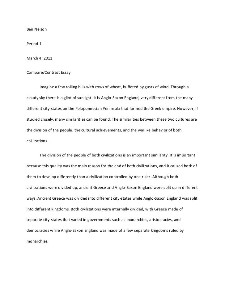 comparison and contrast essay between two cultures 100% free papers on compare and contrast essay difference between contrast and comparison essay comparing two the title of one of the most popular cultures.