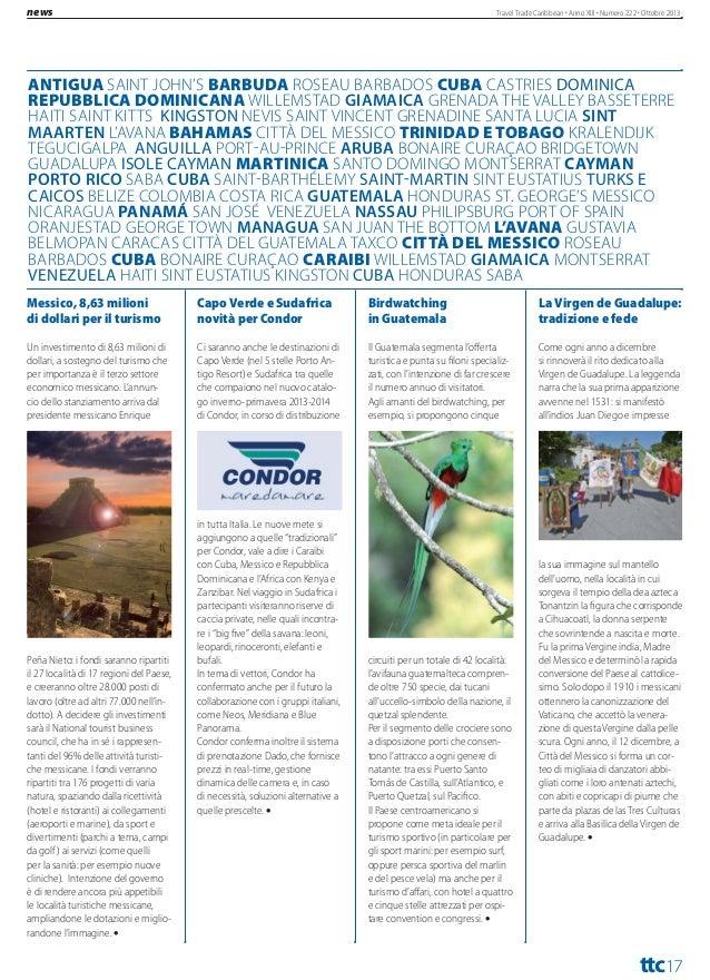 """travel  Travel Trade Caribbean Anno XIII Numero 222 Ottobre 2013  EDEN VIAGGI ACCOGLIE GLI AGENTI DI VIAGGIO """"Siete dias e..."""