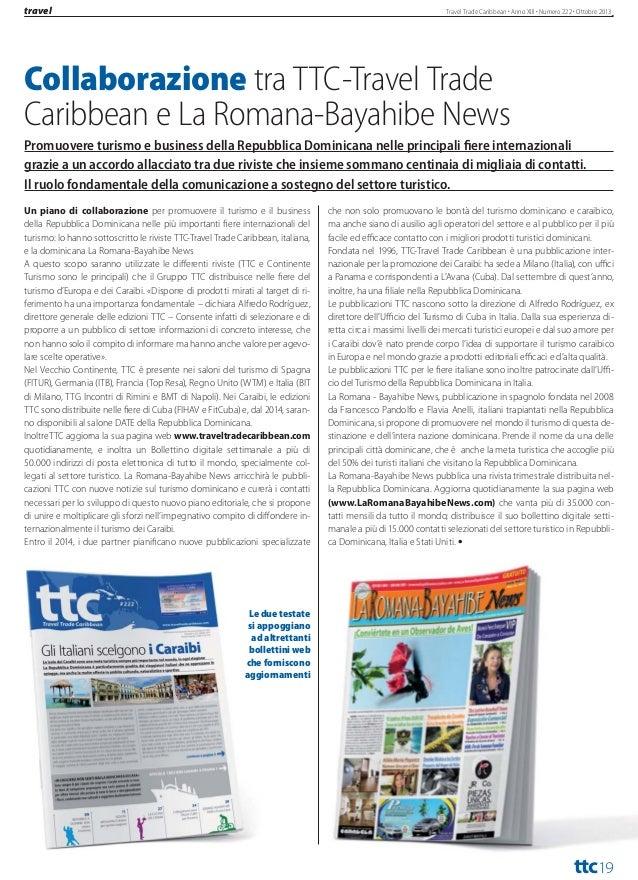 travel  Travel Trade Caribbean Anno XIII Numero 222 Ottobre 2013  I GSA DI BLUE PANORAMA A RIMINI Nuove compagnie e nuovi ...