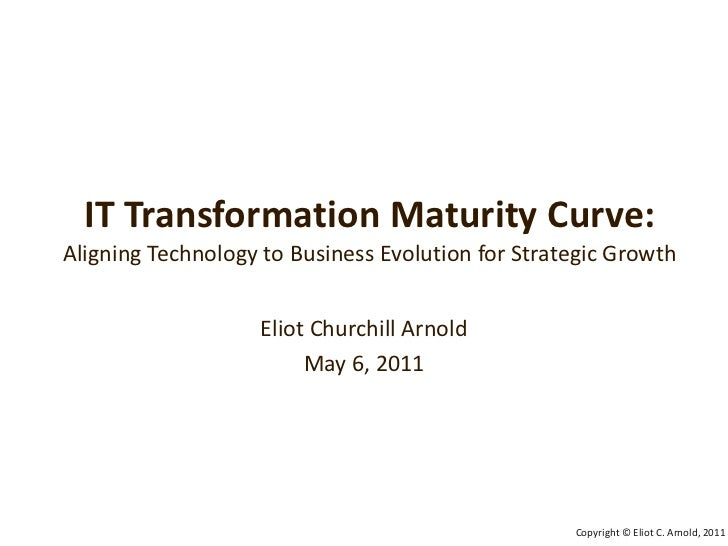 IT Transformation Maturity Curve:Aligning Technology to Business Evolution for Strategic Growth<br />Eliot Churchill Arnol...