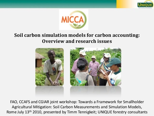 Soil carbon simulation models for carbon accounting: Overview and research issues  FAO, CCAFS and CGIAR joint workshop: To...