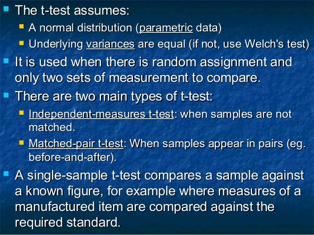 Test Hypothesis Using t-Test