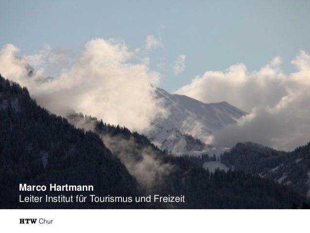 Marco Hartmann Leiter Institut für Tourismus und Freizeit