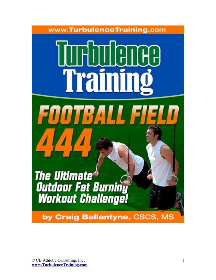 © CB Athletic Consulting, Inc.   1www.TurbulenceTraining.com