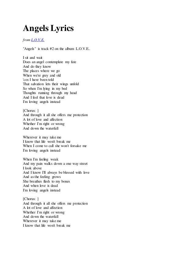 Angels Lyrics By Harrison Crai