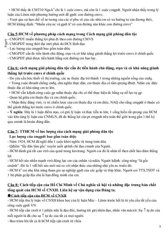 Page9 + HCM thấy đc CMT10 Nga k0 chỉ là 1 cuộc cmvs, mà còn là 1 cuộc cmgpdt. Người nhận thấy trong lý luận của Lênin một ...