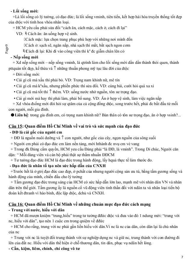 Page9 - Lối sống mới: +Là lối sống có lý tưởng, có đạo đức; là lối sống vminh, tiên tiến, kết hợp hài hòa truyền thống tốt...