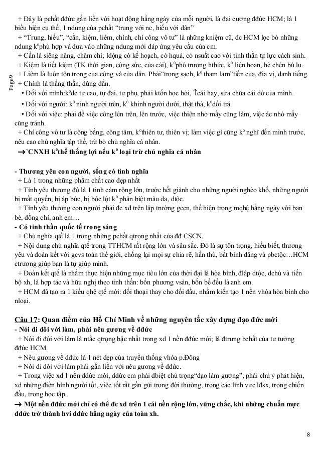 Page9 + Đây là pchất đđức gắn liền với hoạt động hằng ngày của mỗi người, là đại cương đđức HCM; là 1 biểu hiện cụ thể, 1 ...