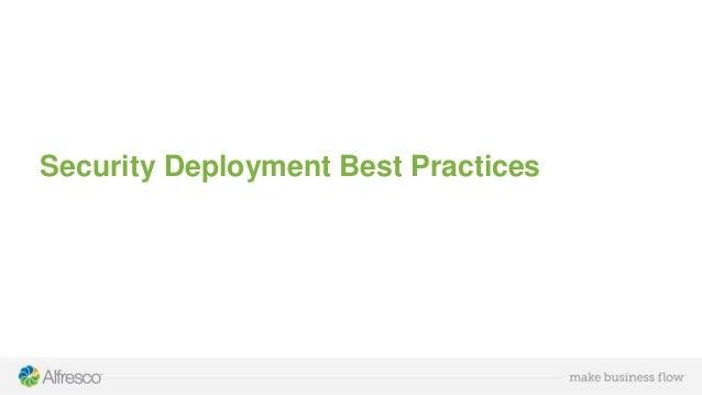 Security Deployment Best Practices