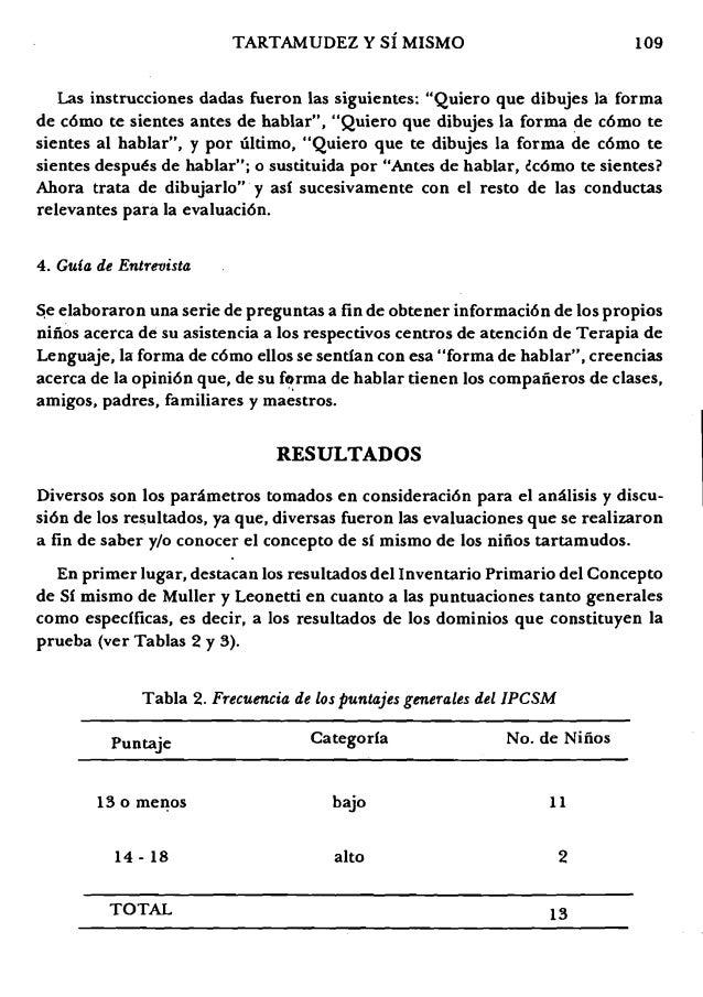 """109TARTAMUDEZ Y sf MISMO Las instrucciones dadas fueron las siguientes: """"Quiero que dibujes la forma de c6mo te sientes an..."""