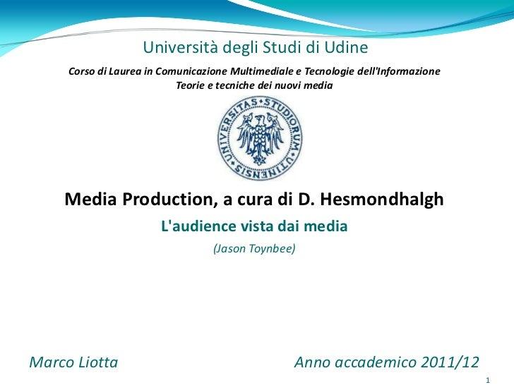 Università degli Studi di Udine     Corso di Laurea in Comunicazione Multimediale e Tecnologie dellInformazione           ...