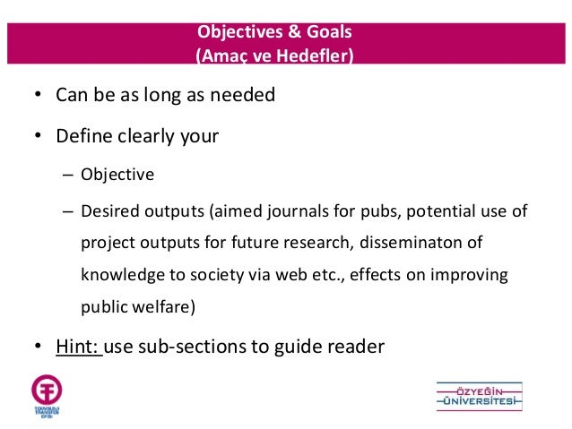 Objectives ...  How To Write An Objective