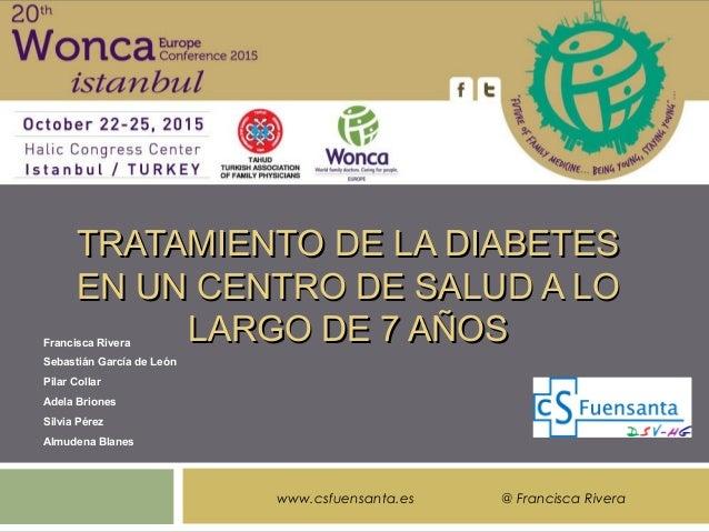 Tratamiento de la diabetes en un centro de salud a lo