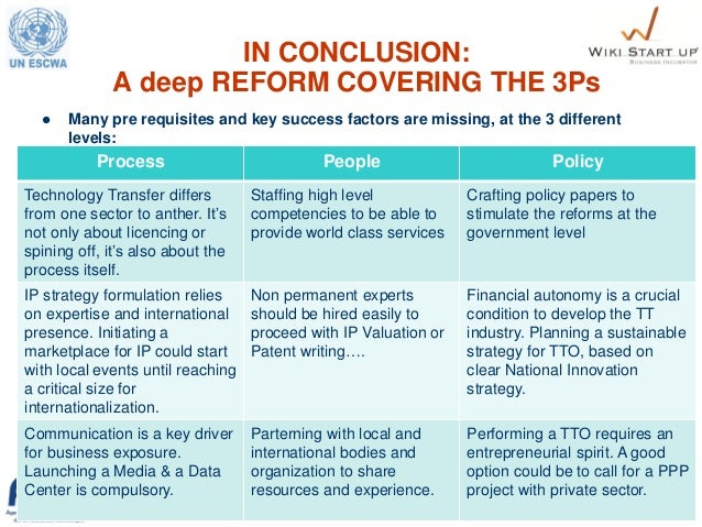 18 IN CONCLUSION: A deep REFORM COVERING THE 3Ps  Many pre requisites and key success factors are missing, at the 3 diffe...