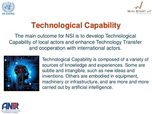 Technological Capability Technological Capability is composed of a variety of sources of knowledge and experiences. Some a...