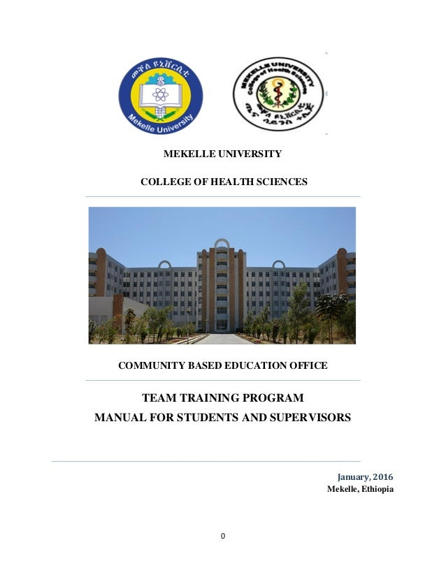 Team Training Program Manual of College of Health Science