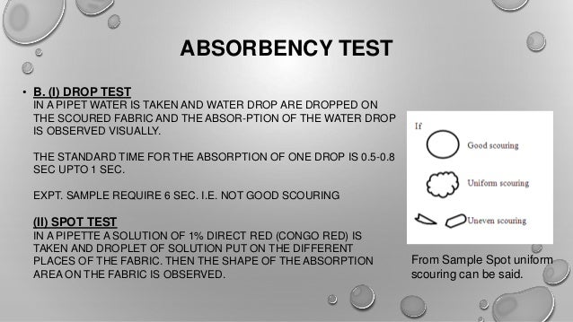 How To Test Absorbency Of A Fabric