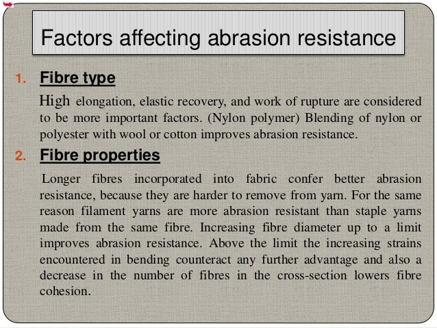 Fabric Structure Factors Affecting Abrasion Resistance 30