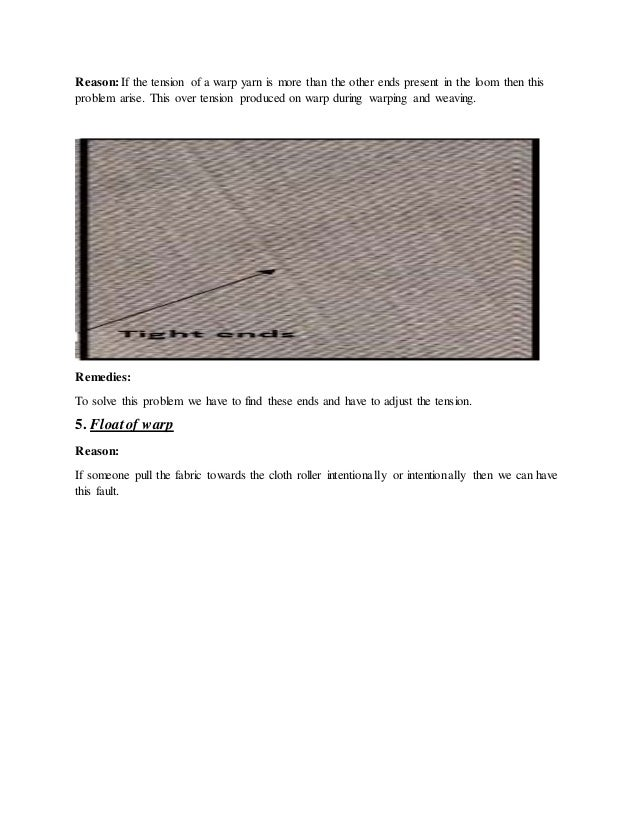 Faults of Woven and Knit Fabric