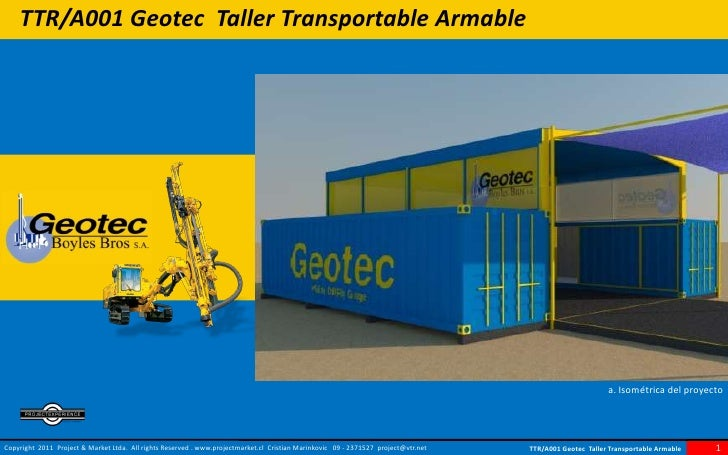 TTR/A001 Geotec Taller Transportable Armable                                                                              ...