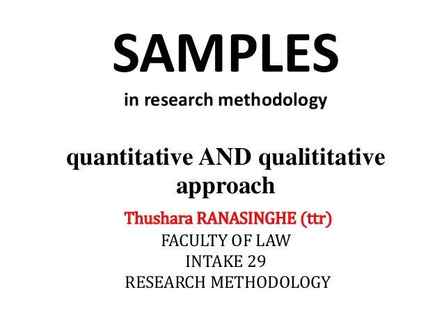 Methods of sampling in research
