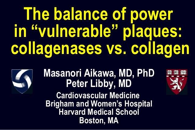 Masanori Aikawa, MD, PhD Peter Libby, MD Cardiovascular Medicine Brigham and Women's Hospital Harvard Medical School Bosto...
