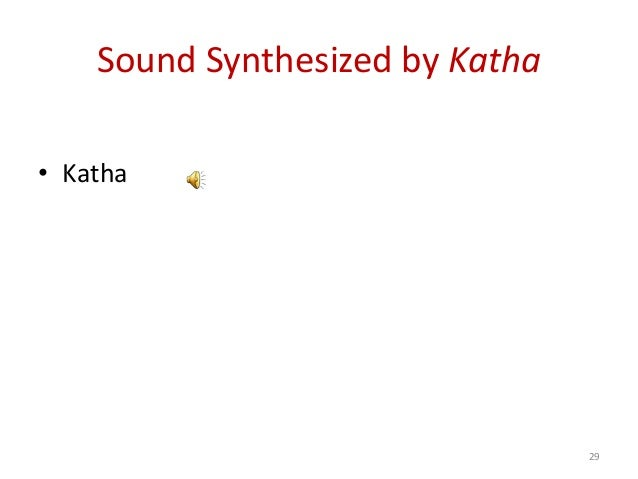 Sound Synthesized by Katha • Katha 29
