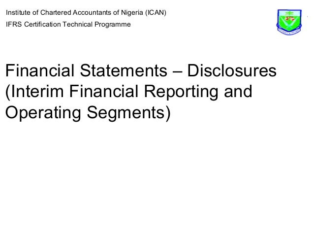 ch 13 segment and interim reporting 24-1 chapter 24 full disclosure in financial reporting assignment classification table (by topic) topics questions brief exercises exercises problems.