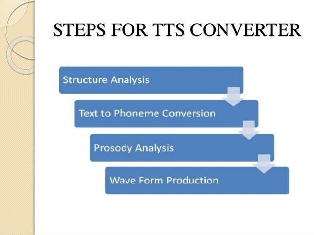 STEPS FOR TTS CONVERTER