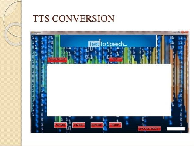 TTS CONVERSION