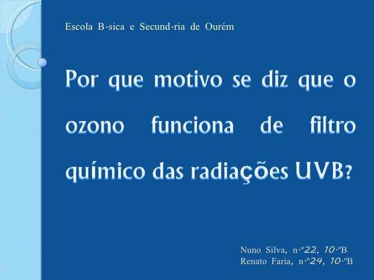 Nuno Silva, n.º22, 10.ºB Renato Faria, n.º24, 10.ºB Escola Básica e Secundária de Ourém