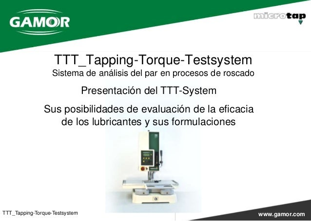 TTT-System (Tapping Torque Test system)