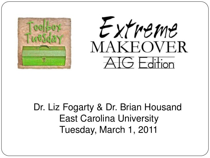 Dr. Liz Fogarty & Dr. Brian Housand <br />East Carolina University<br />Tuesday, March 1, 2011<br />
