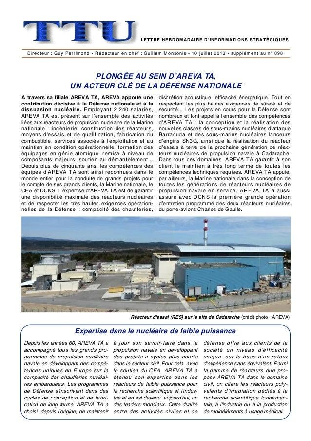 Directeur : Guy Perrimond - Rédacteur en chef : Guillem Monsonis - 10 juillet 2013 - supplément au n° 898 PLONGÉE AU SEIN ...