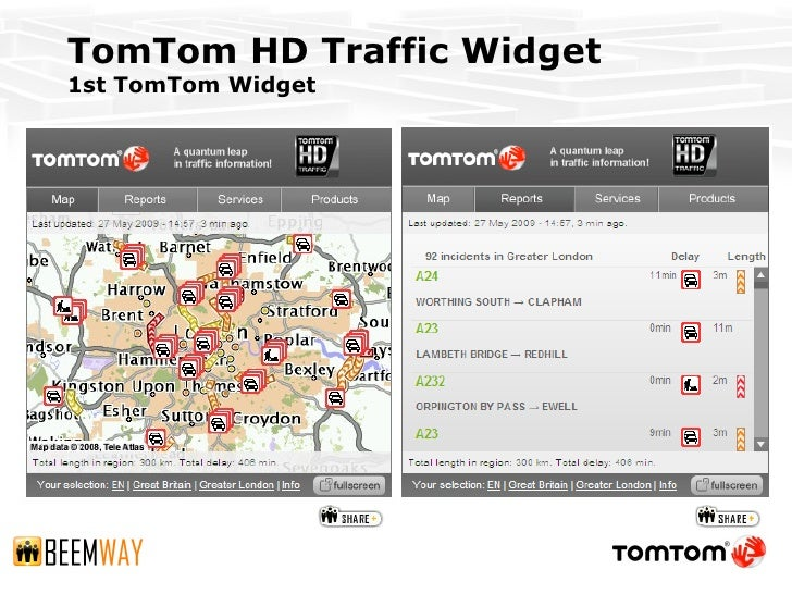 marcom09 tomtom hd traffic widget. Black Bedroom Furniture Sets. Home Design Ideas