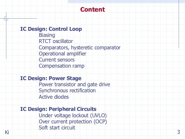 IC Design of Power Management Circuits (II)