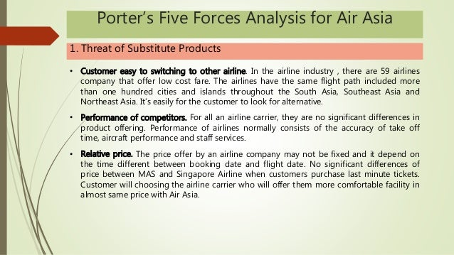 porters 5 forces analysis on air Porter's 5 forces model is one of the most recognized framework for the analysis of business strategy porter, the guru of modern day business strategy, used.