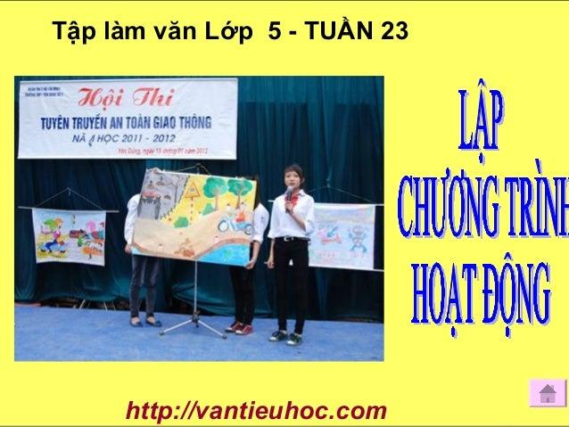 Tập làm văn Lớp 5 - TUẦN 23 http://vantieuhoc.com